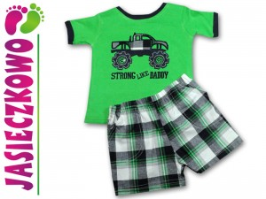 STRONG LIKE DADDY t-shirt + spodenki KPL 2cz 68 74